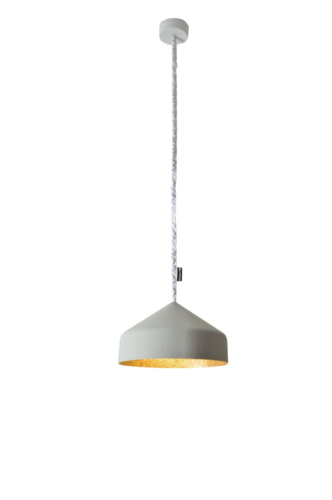 Cyrcus Pendant Light Cement, Gold