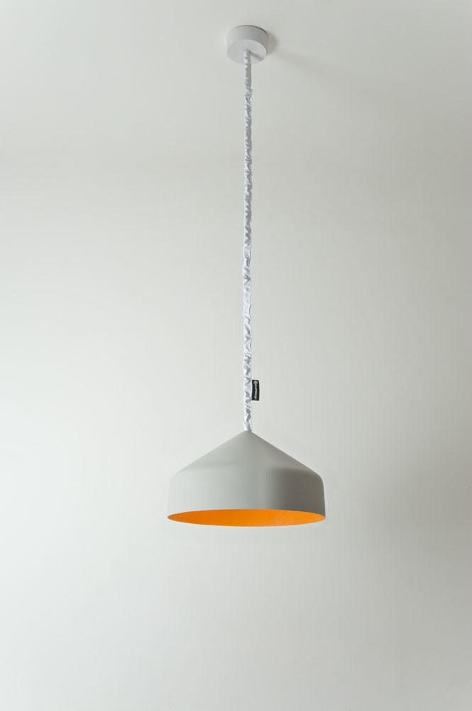 Cyrcus Pendant Light Cement, Orange