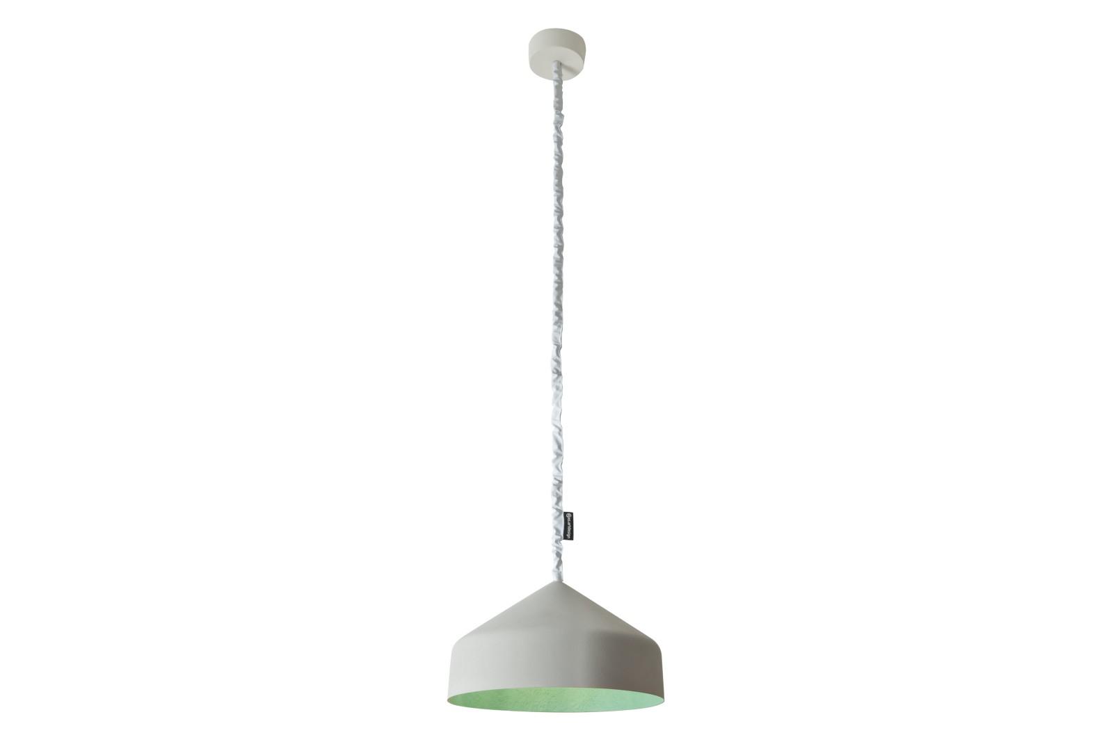 Cyrcus Pendant Light Cemento, Grey, Turquoise