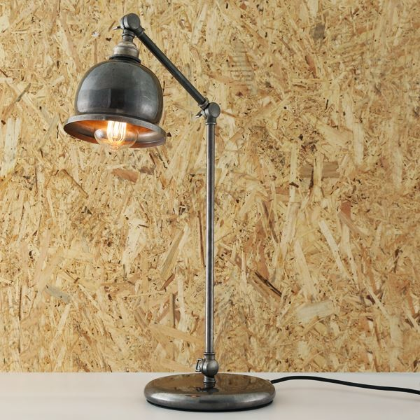 Dale Table Lamp Antique Silver