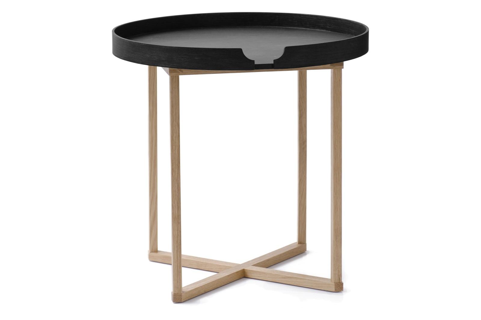 Damien Round Side Table Black