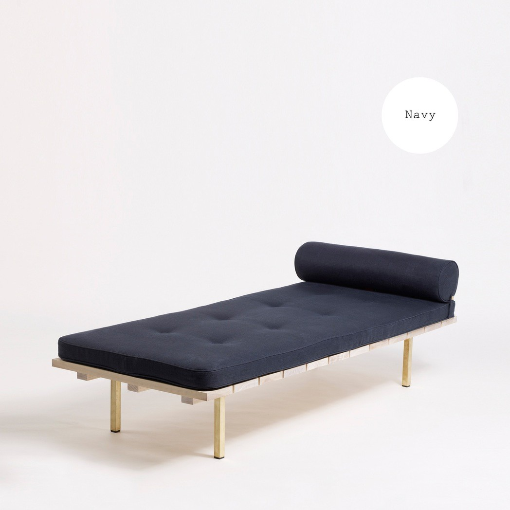 Day Bed Two Ash, Clyde Navy Upholstery