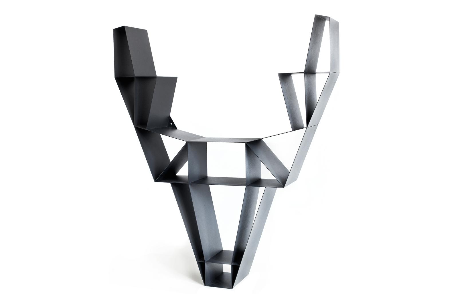 Deer Metal Shelf Charcoal Black, Large