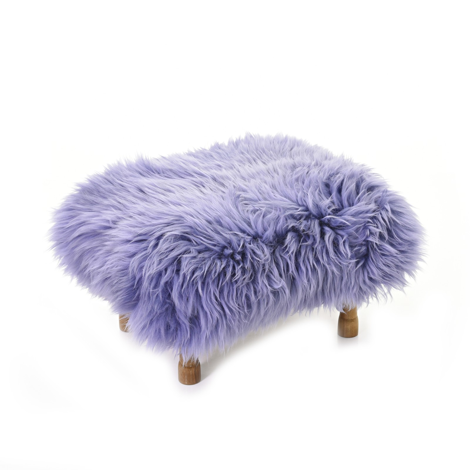Delyth Sheepskin Footstool Lilac
