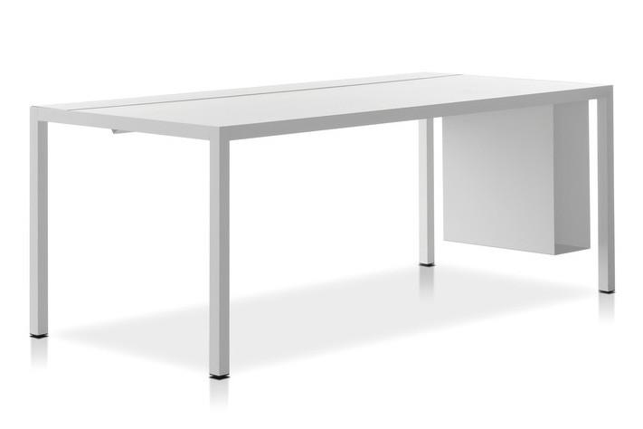 Desk 3.0, Cable Management Top HPL White Top & Matt White Frame, 80x160cm