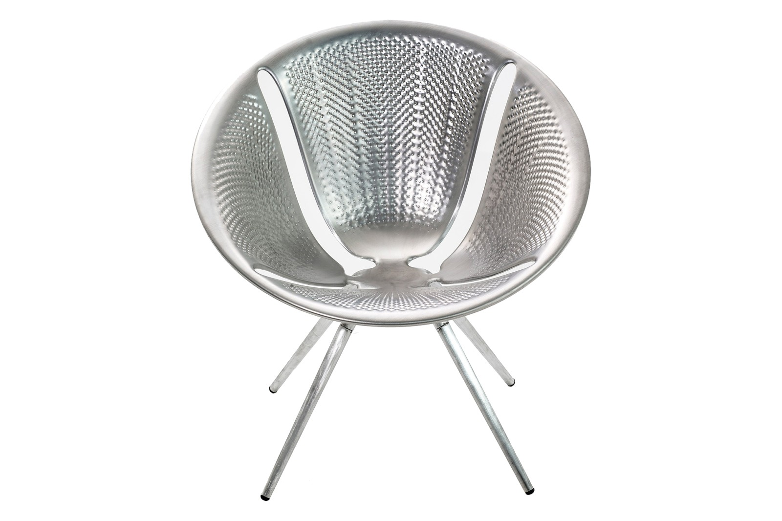 Diatom Small Armchair Natural Aluminium