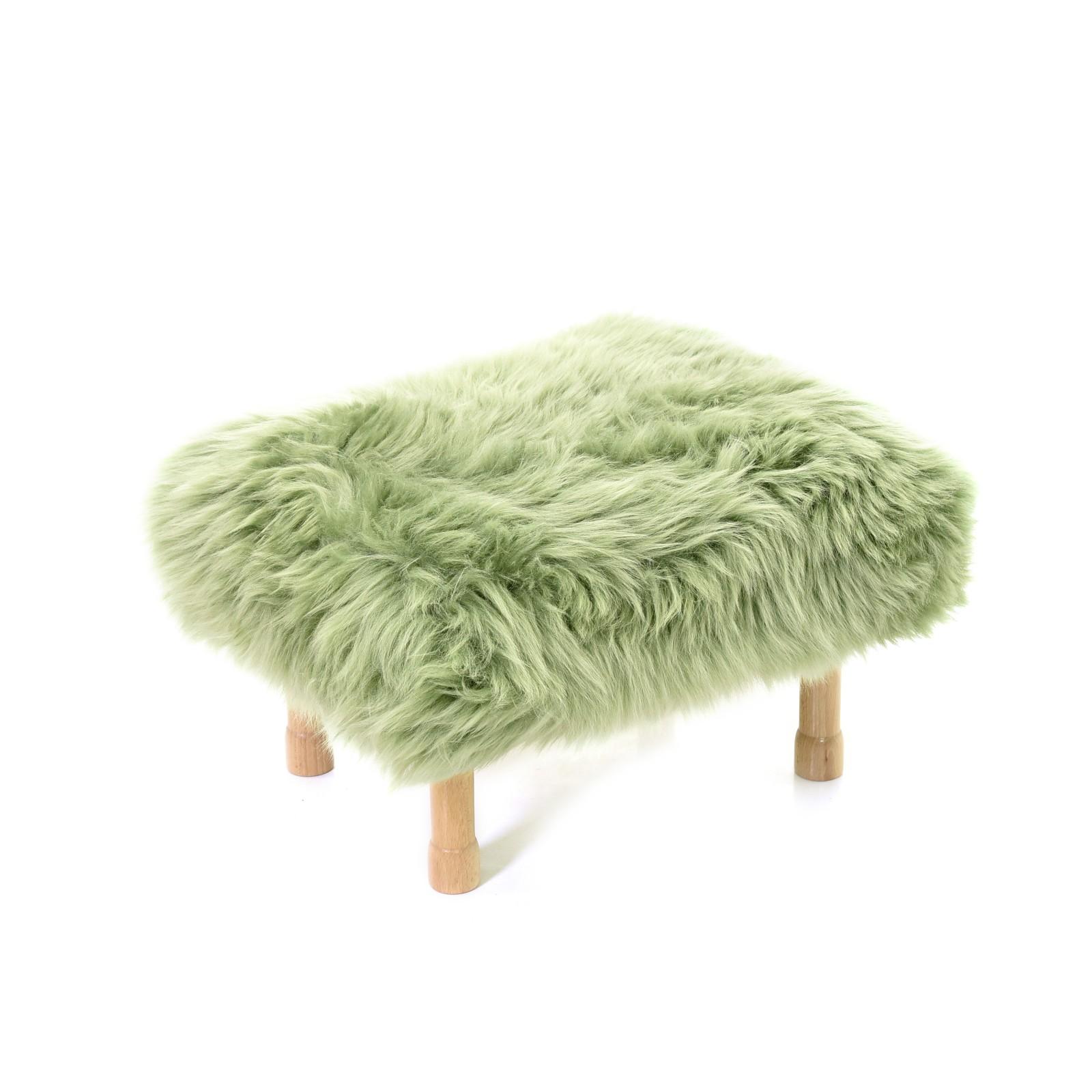 Dilys Sheepskin Footstool Sage