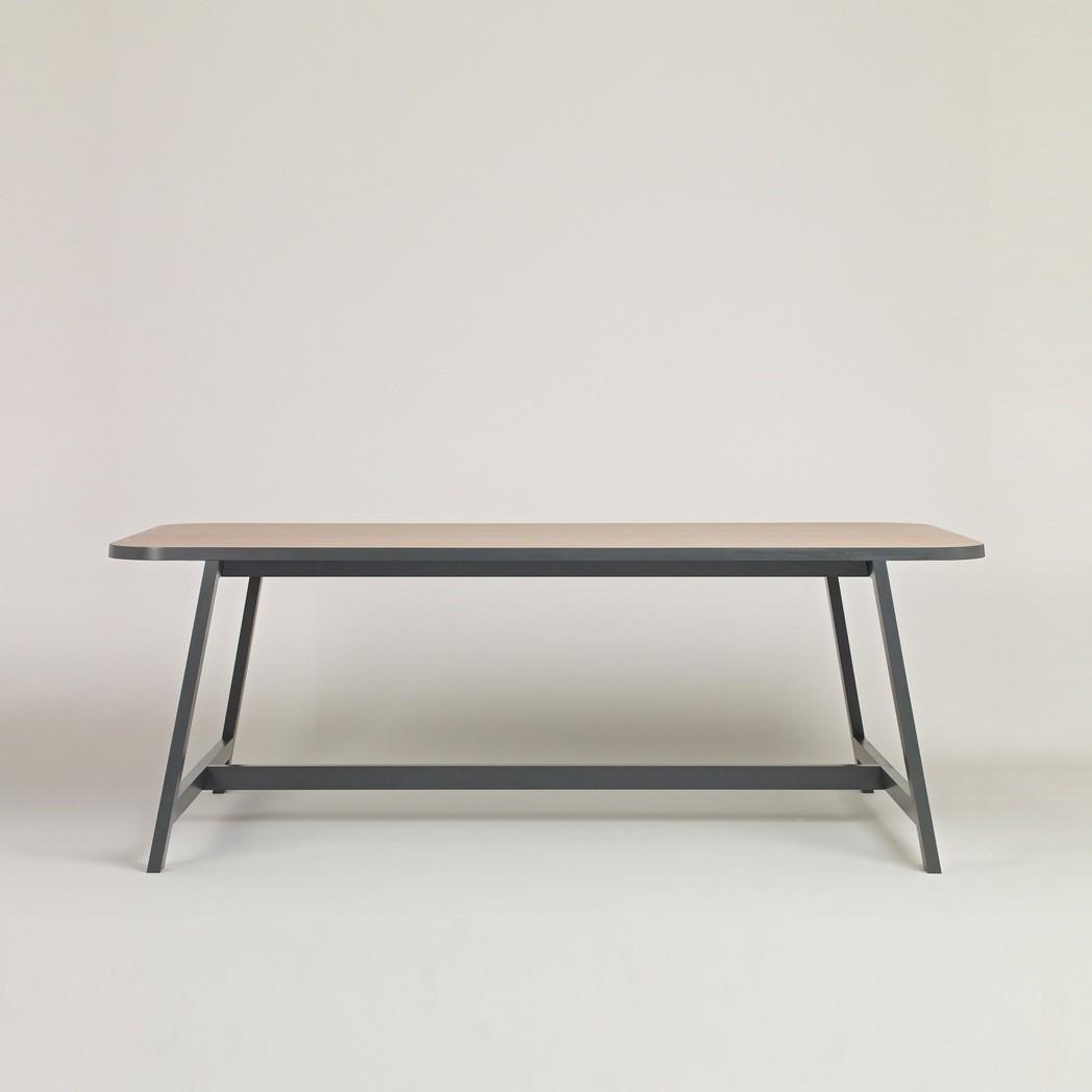 Dining Table Three Beech, Chamberlayne Grey, 200 cm Long