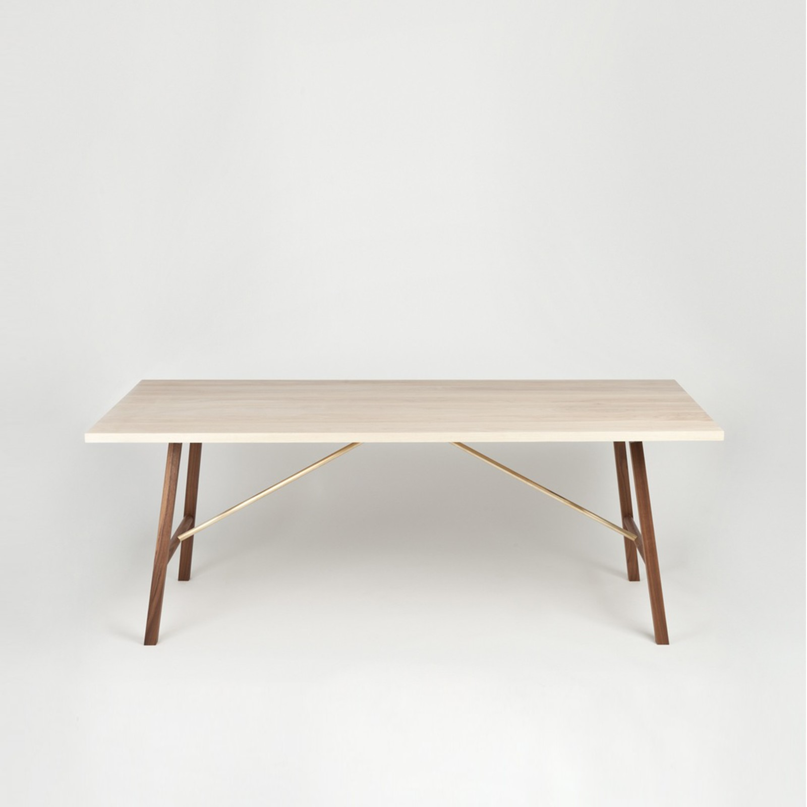 Dining Table Two Ash & Walnut, 220 cm Long
