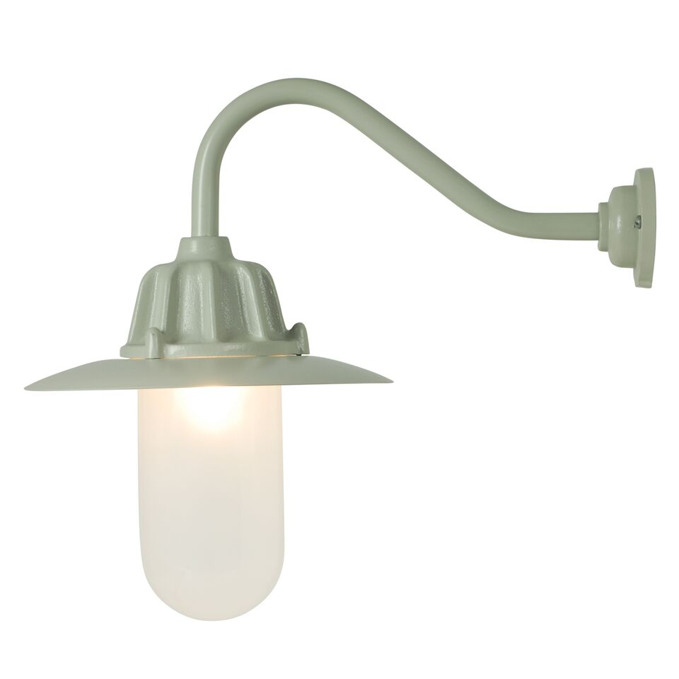 Dockside Wall Light 7675 Putty grey, Frosted glass
