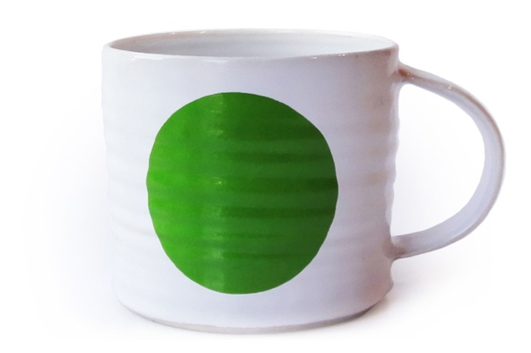 Dot Mug Green, Medium