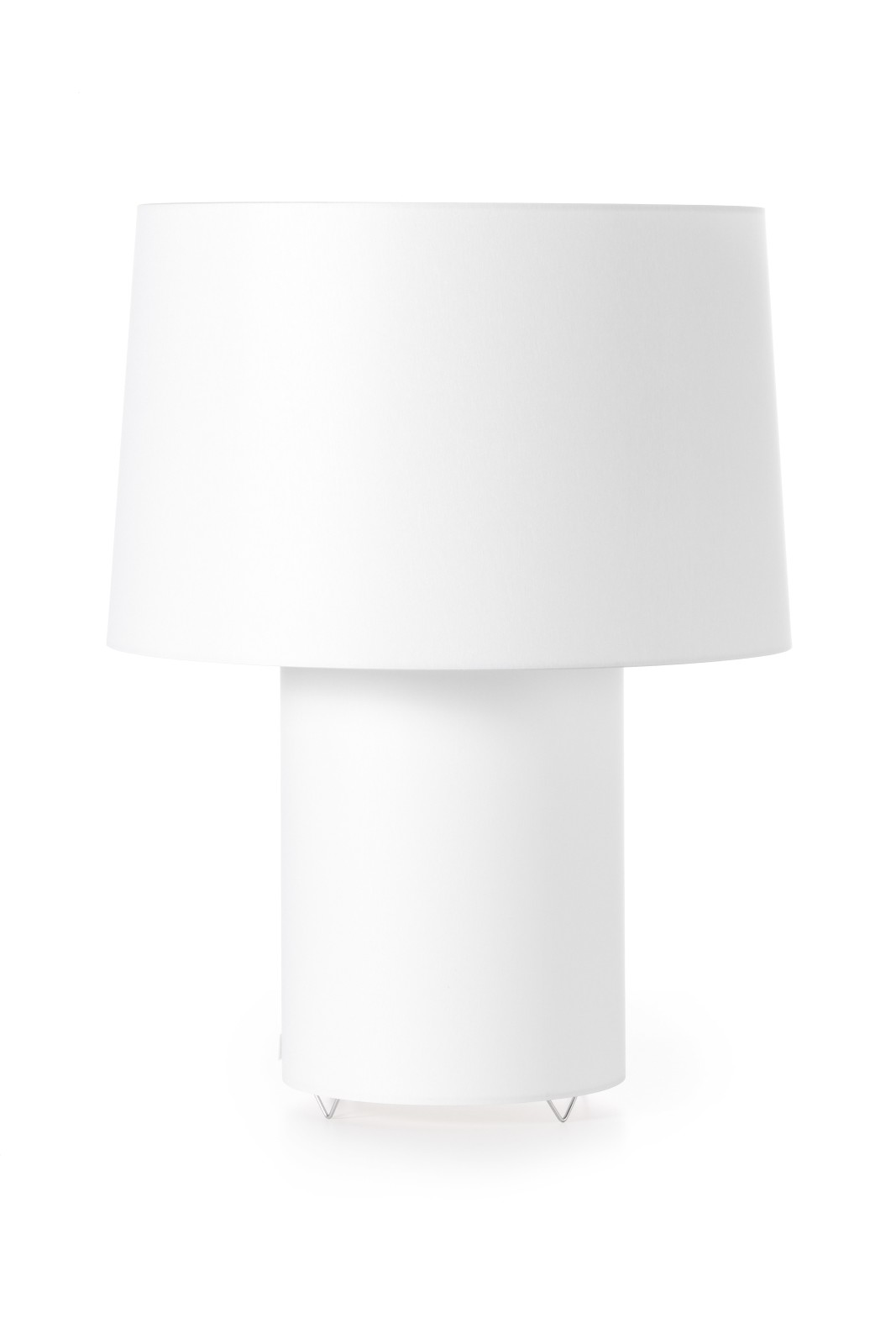 Double Table Lamp - Round White