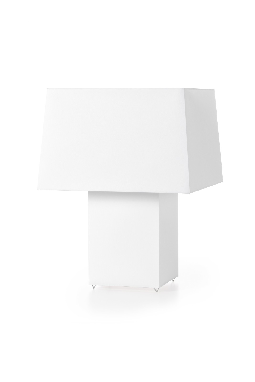 Double Table Lamp - Square White