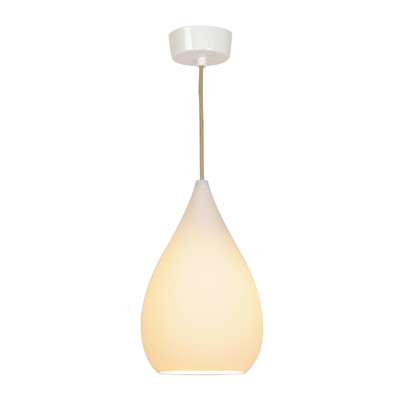 Drop One Pendant Light Natural White Matt, Large