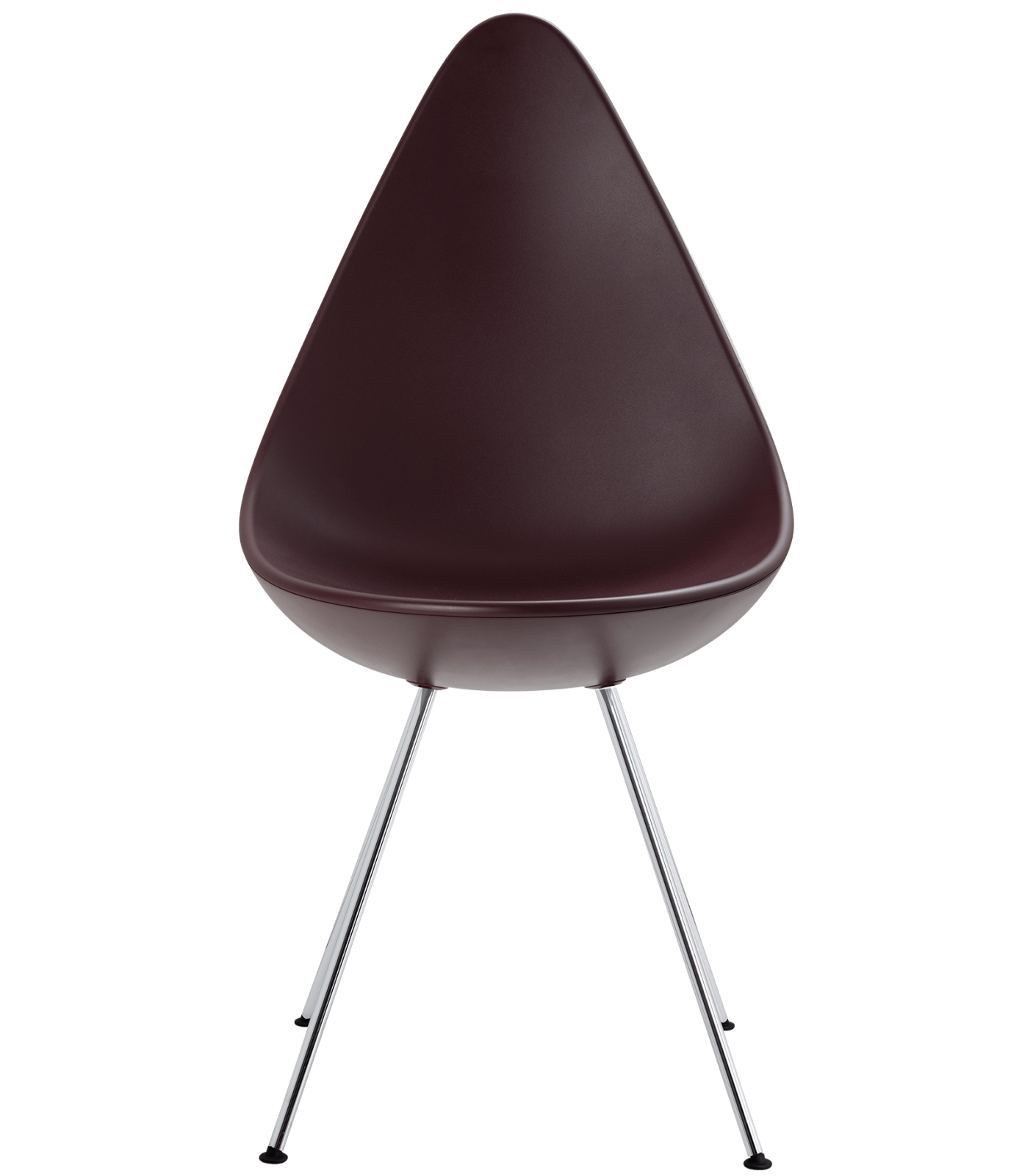 Drop Plastic Chair Plastic Burgundy Red, Chrome