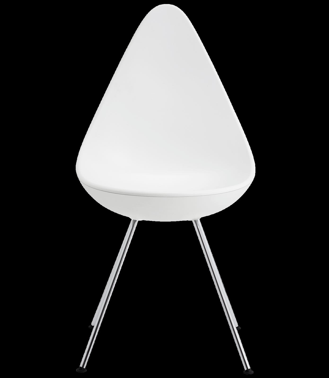 Drop Plastic Chair Plastic White, Chrome