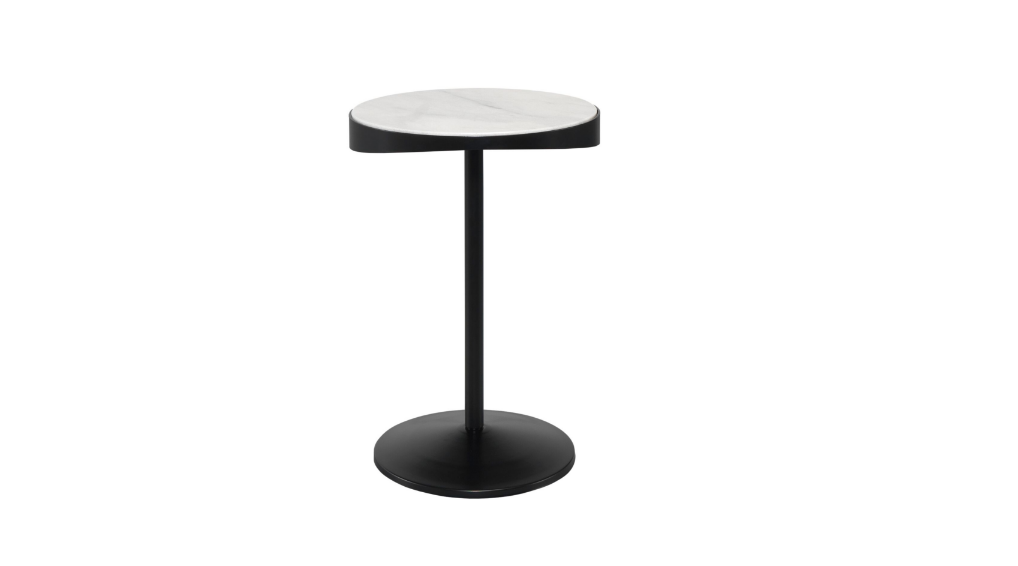 Drop Side Table Calacatta Marble
