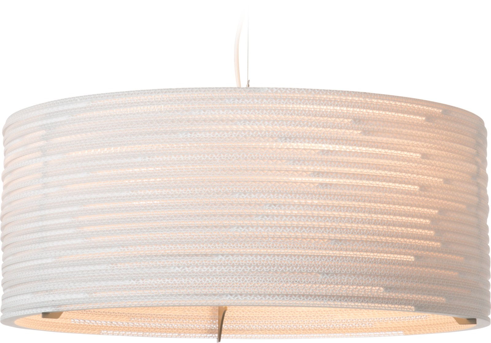Drum Pendant Light White, 92cm