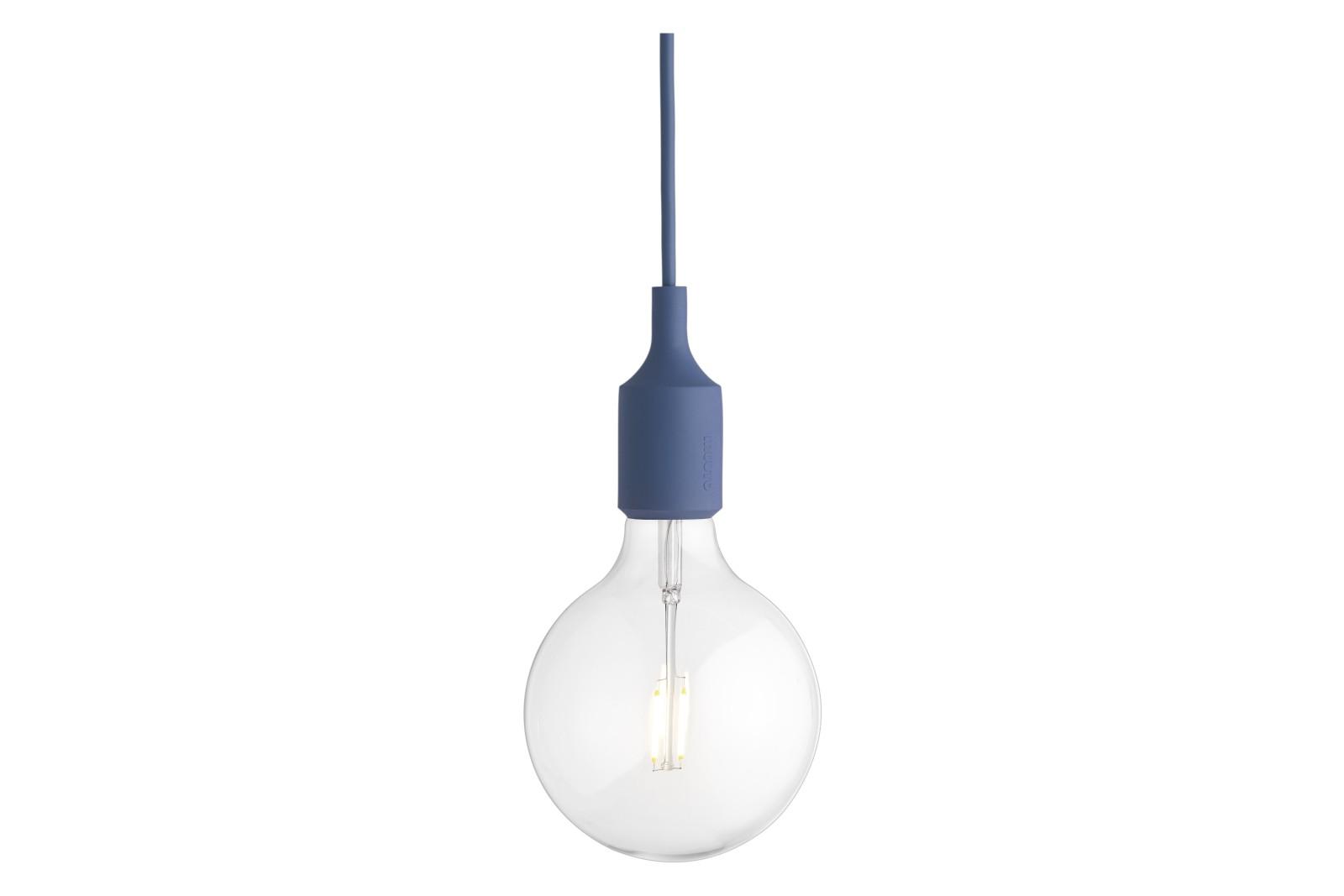 E27 Pendant Light - Set of 4 Pale Blue