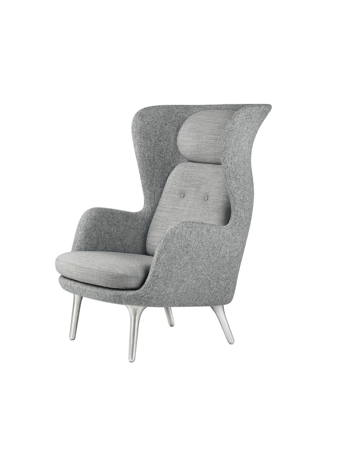 Ro Easy Chair With Aluminium Legs - Designer Selection Light Grey