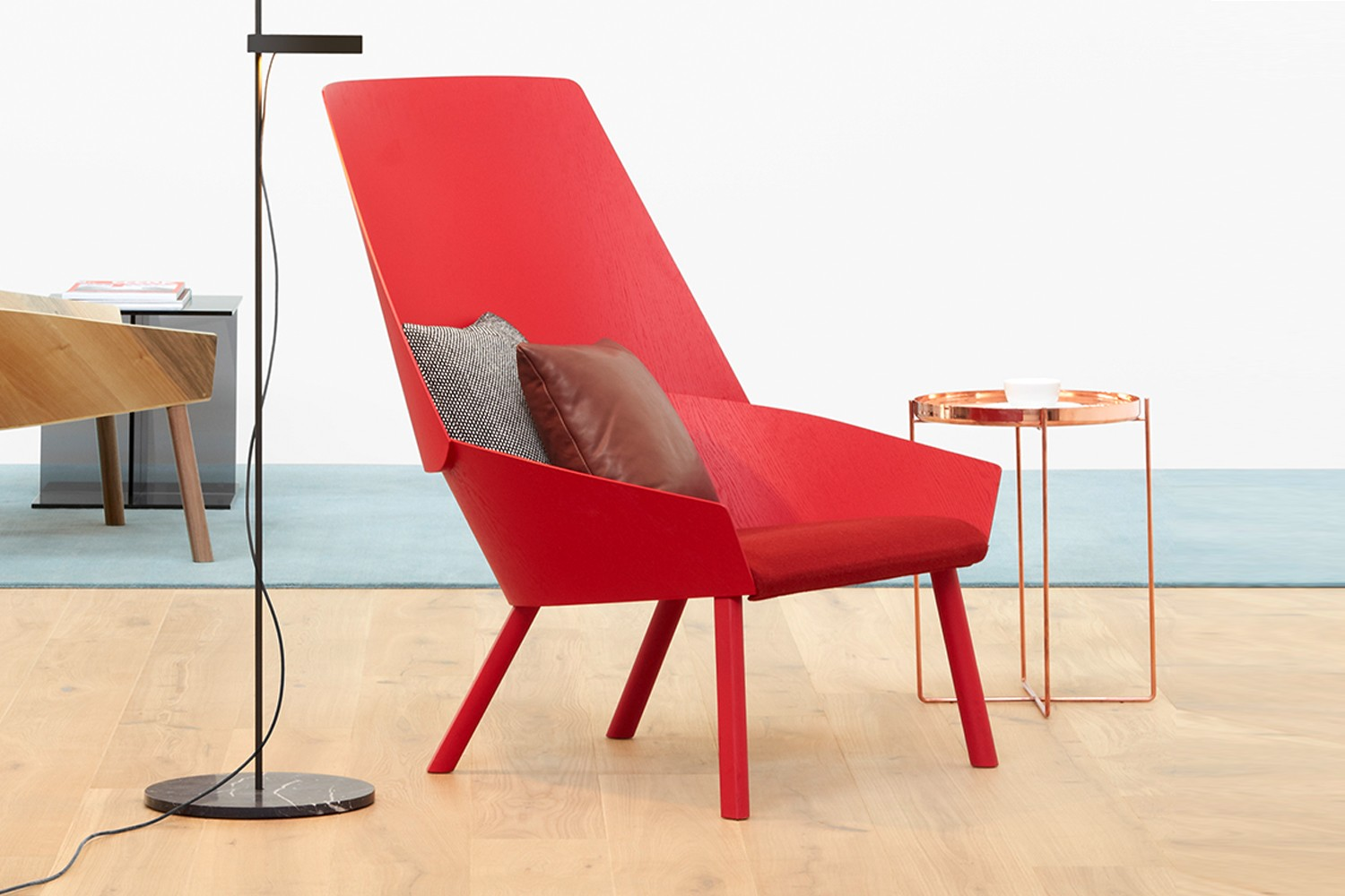 EC03 Eugene Lounge Chair Neon Red