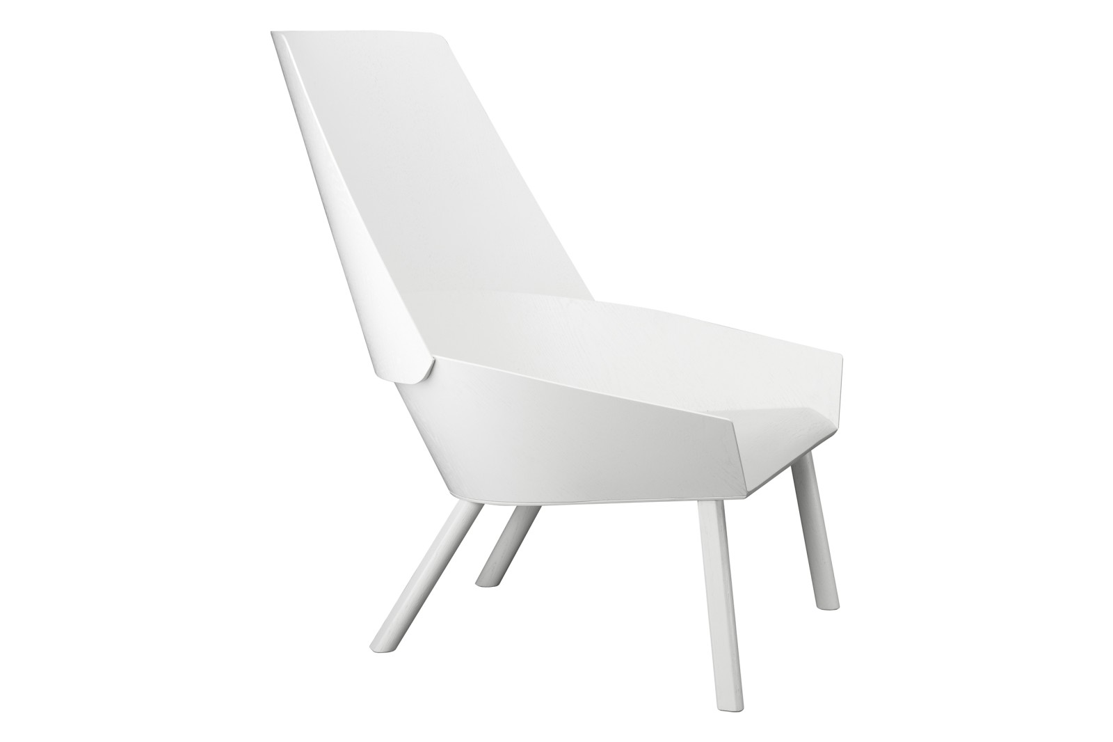 EC03 Eugene Lounge Chair Signal White