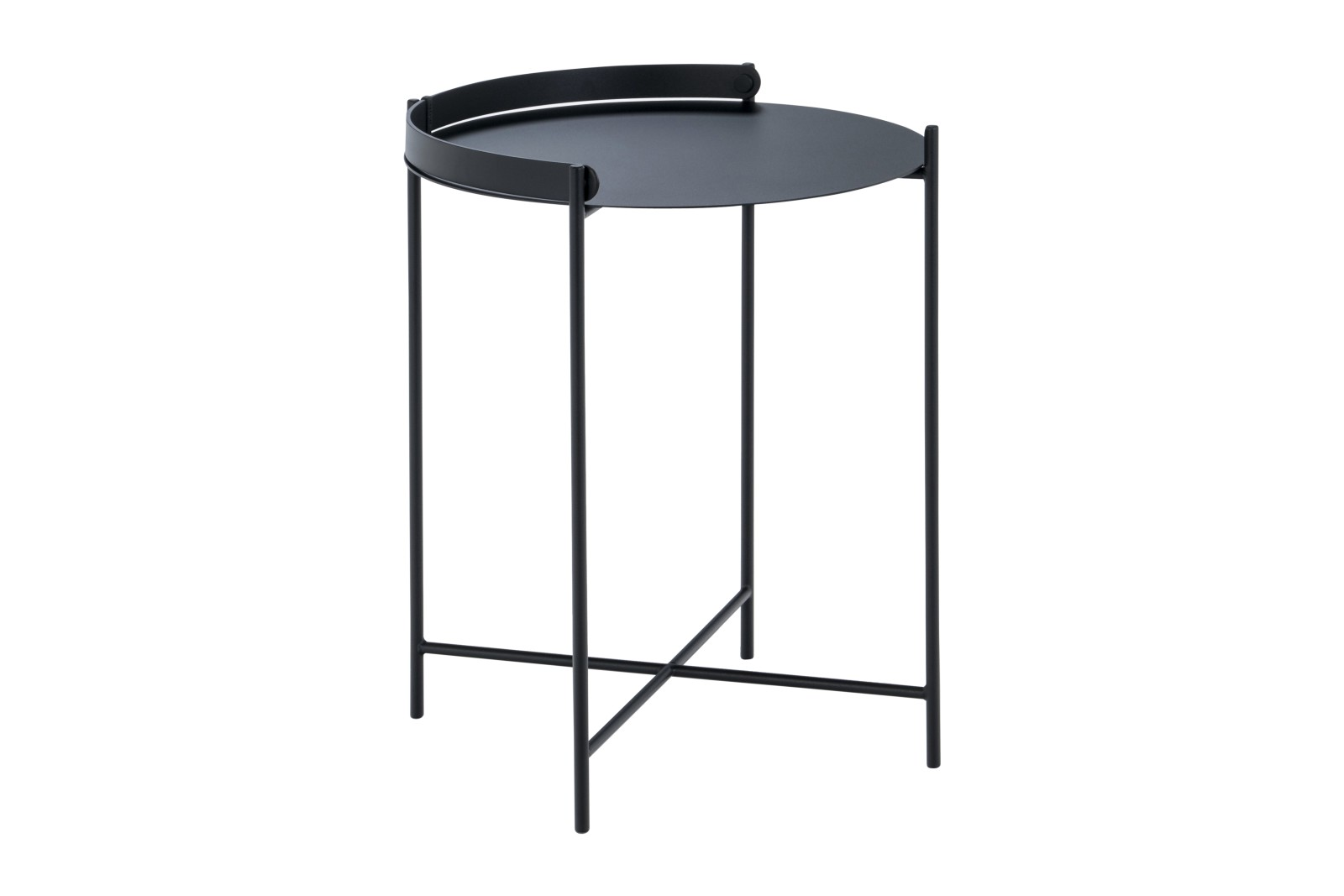 Edge Tray Table Black, 46cm