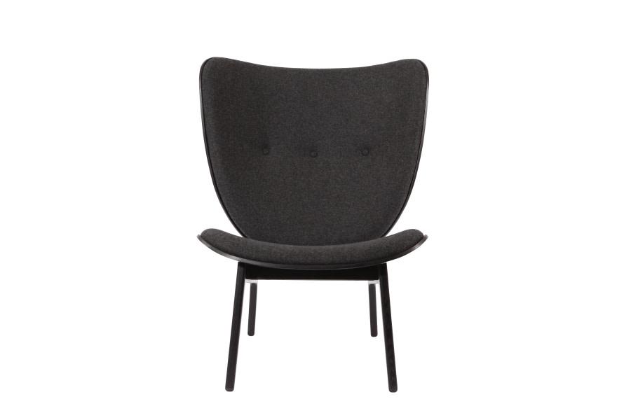 Elephant Chair Oak Black, Wool Coal Grey
