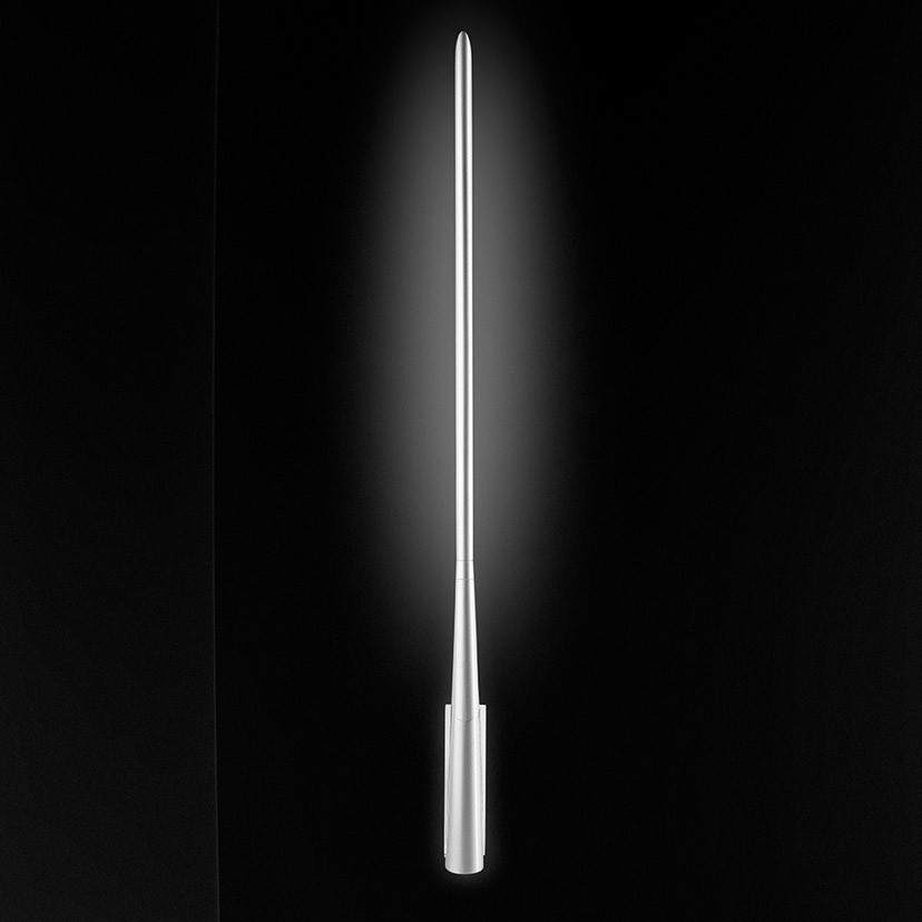 Eliana W2 Wall Lamp Fluorescent, Shiny Grey