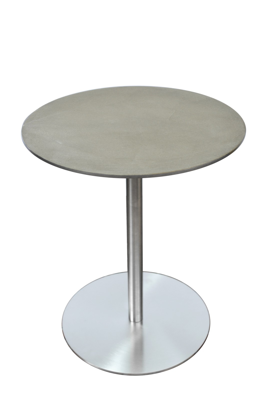 Ester Side Table Stainless Steel, Clay Top, Low