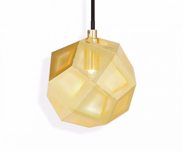 Etch Mini Pendant Light Brass
