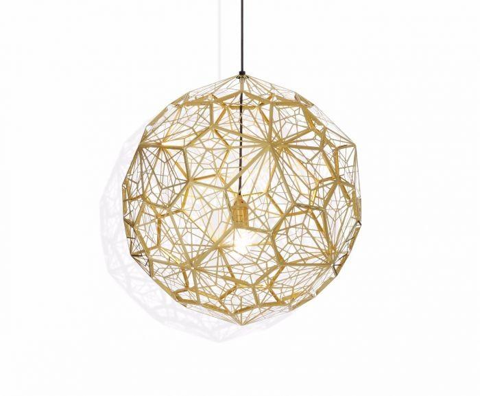 Etch Web Pendant Light Brass