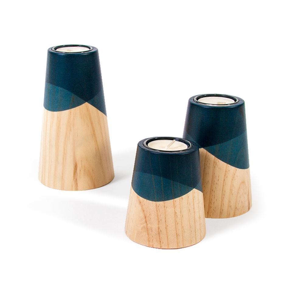 Etna Mini Candle Holders Blue