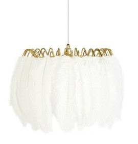 Feather Pendant Lamp Feather Pendant Lamp White