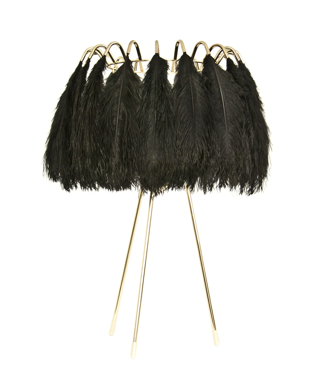 Feather Table Lamp Black Feather Table Lamp