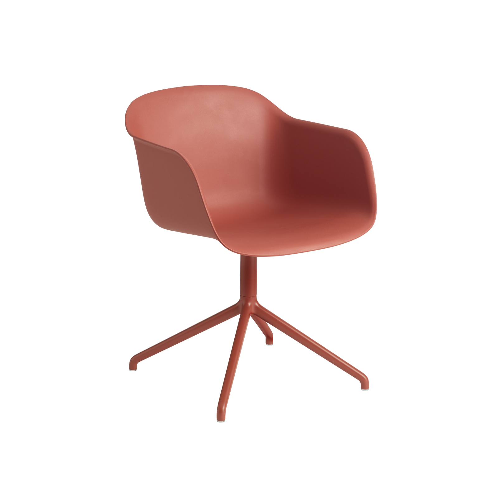 Fiber Armchair Swivel Base With Return Dusty red/Dusty red
