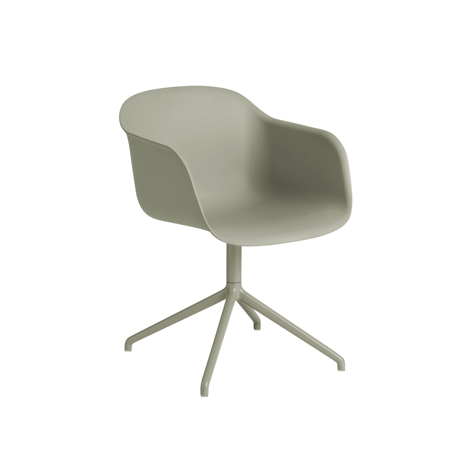 Fiber Armchair Swivel Base Without Return Grey/Grey