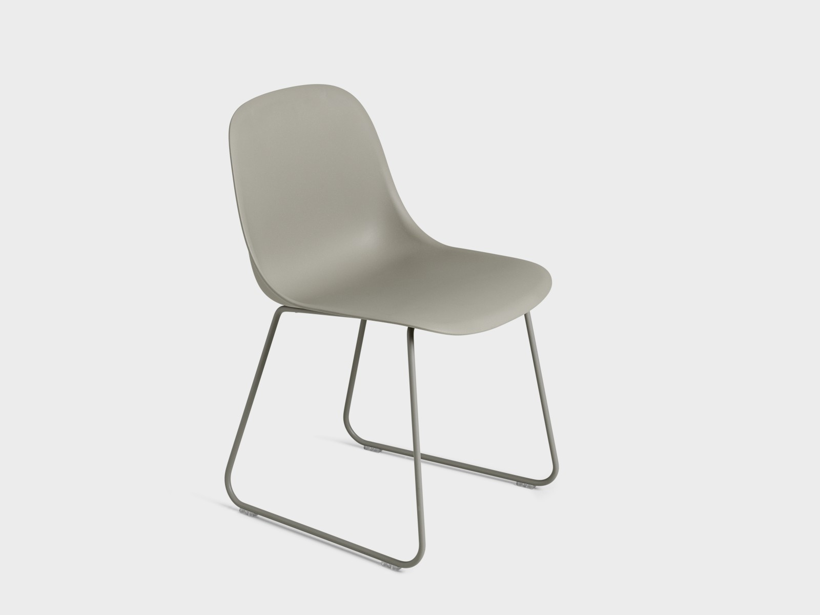 Fiber Side Chair Sled Base Grey/Grey