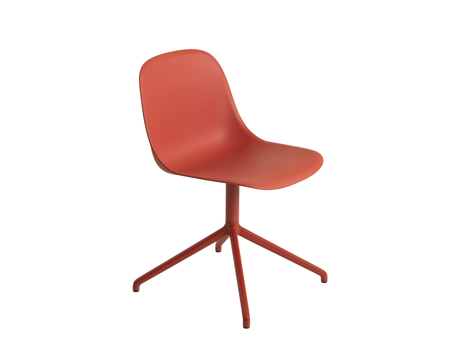 Fiber Side Swivel Chair Without Return - Non Upholstered Dusty Red / Dusty Red