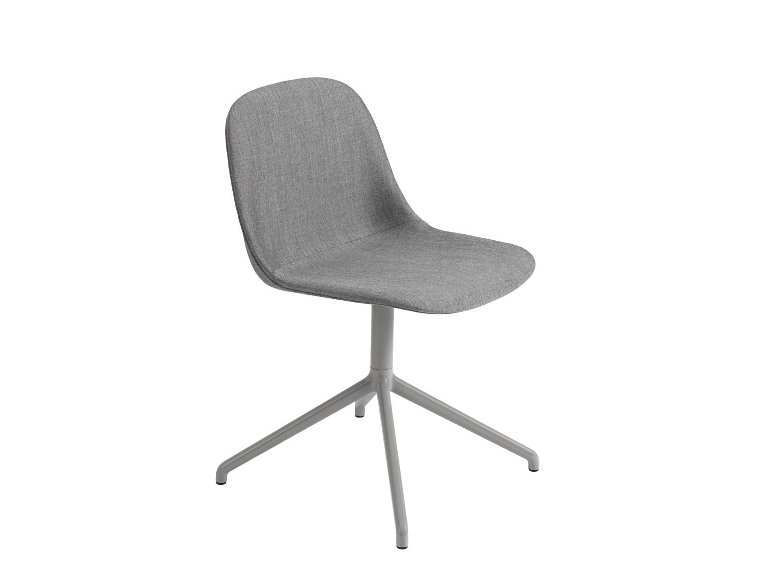 Fiber Side Swivel Chair Without Return - Upholstered Remix 133 / Grey