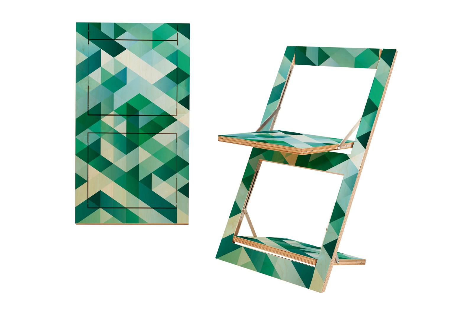 Fläpps Folding Chair Criss Cross Green