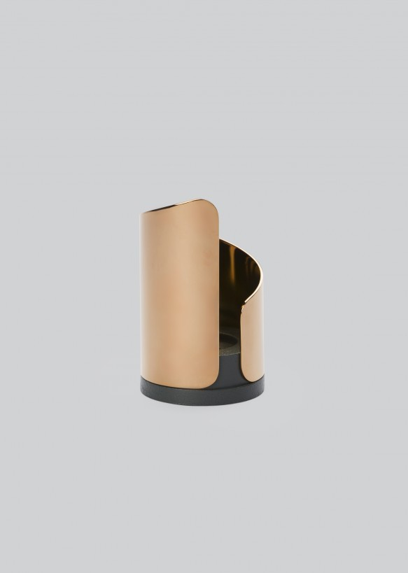 Flame Candle Holder Rose Gold