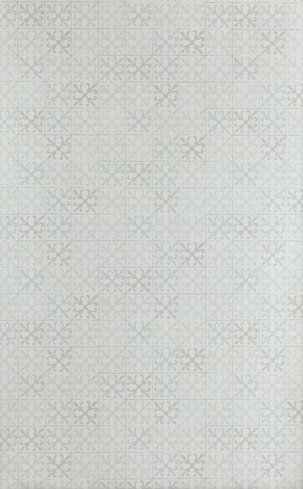 Fleur de Lys Tile Wallpaper Vintage Grey