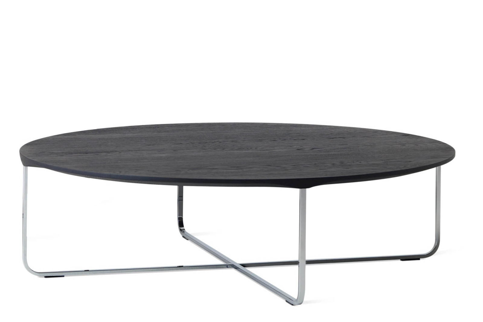 Flint Round Coffee Table Carbon Ash, Large