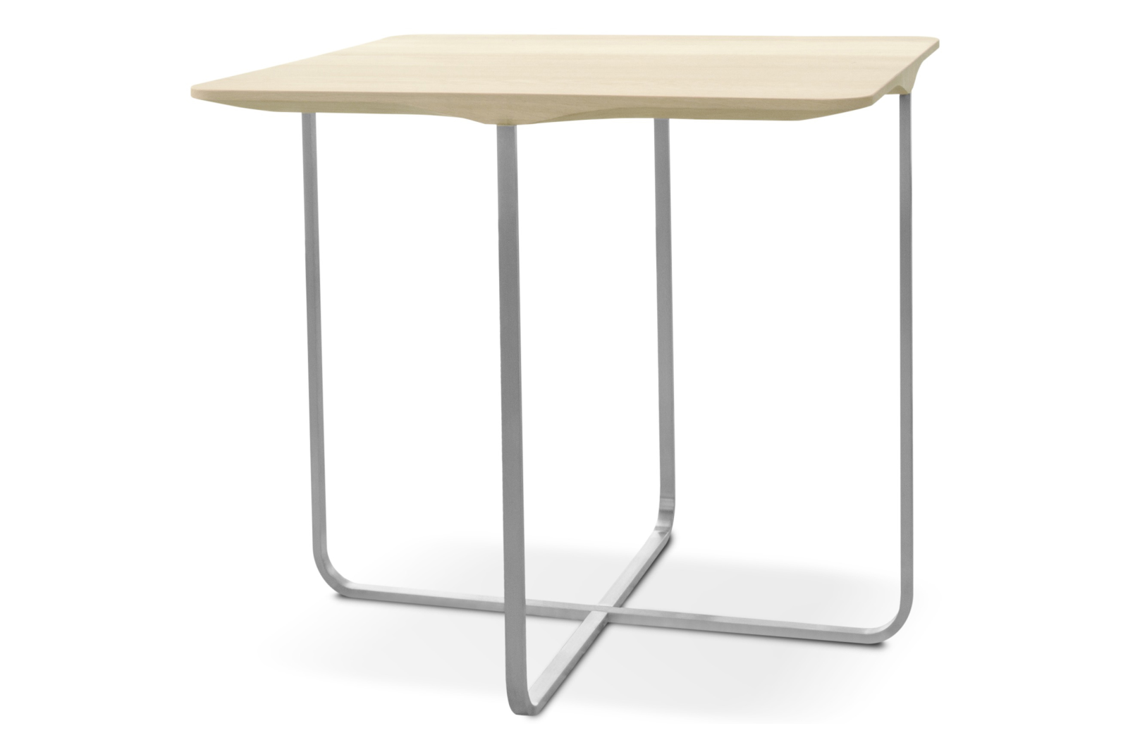 Flint Square Coffee Table White Stained Ash, Small