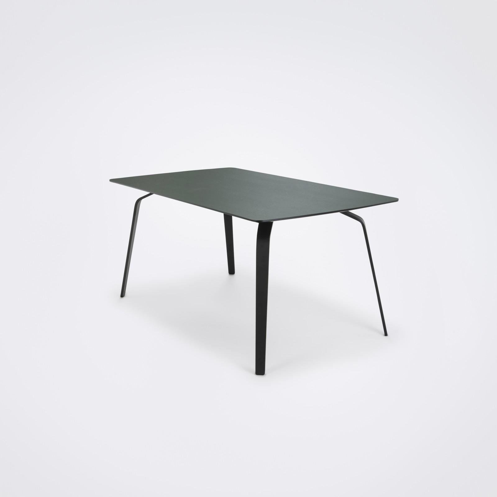 Float Dining Table Dark Green Linoleum, 205cm