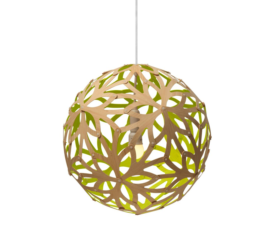 Floral Pendant Light Lime, 40cm