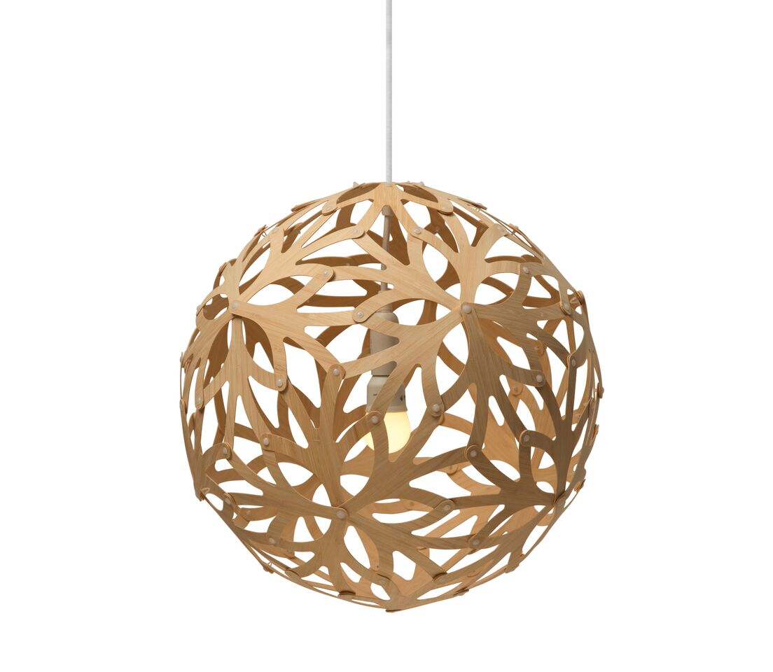 Floral Pendant Light Natural, 40cm