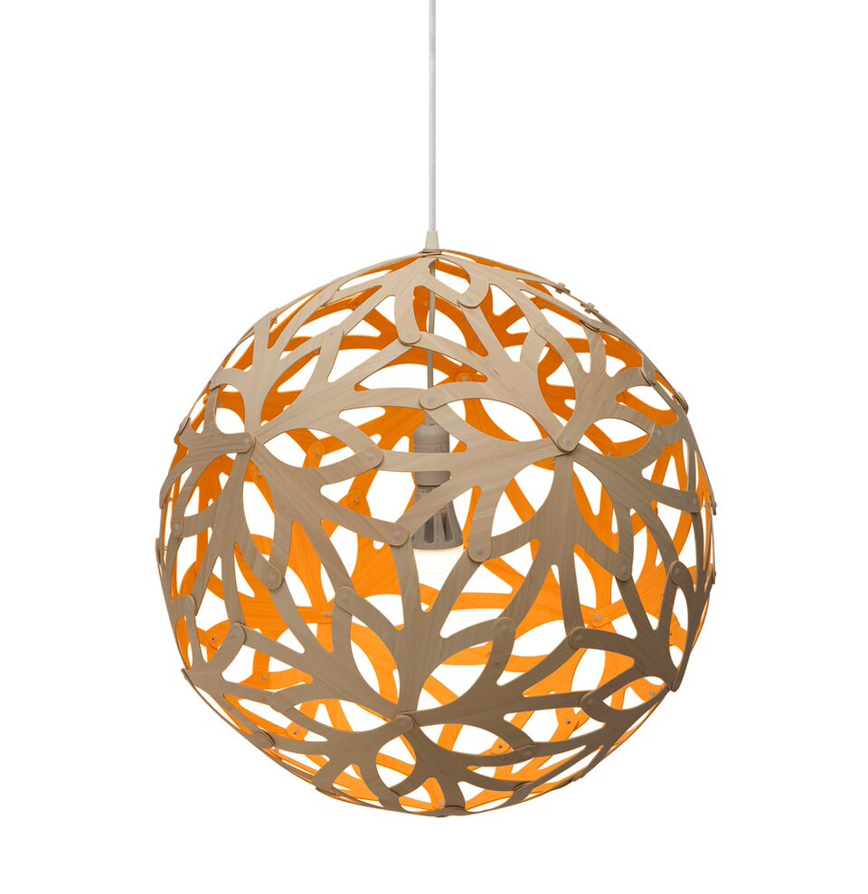 Floral Pendant Light Orange, 60cm