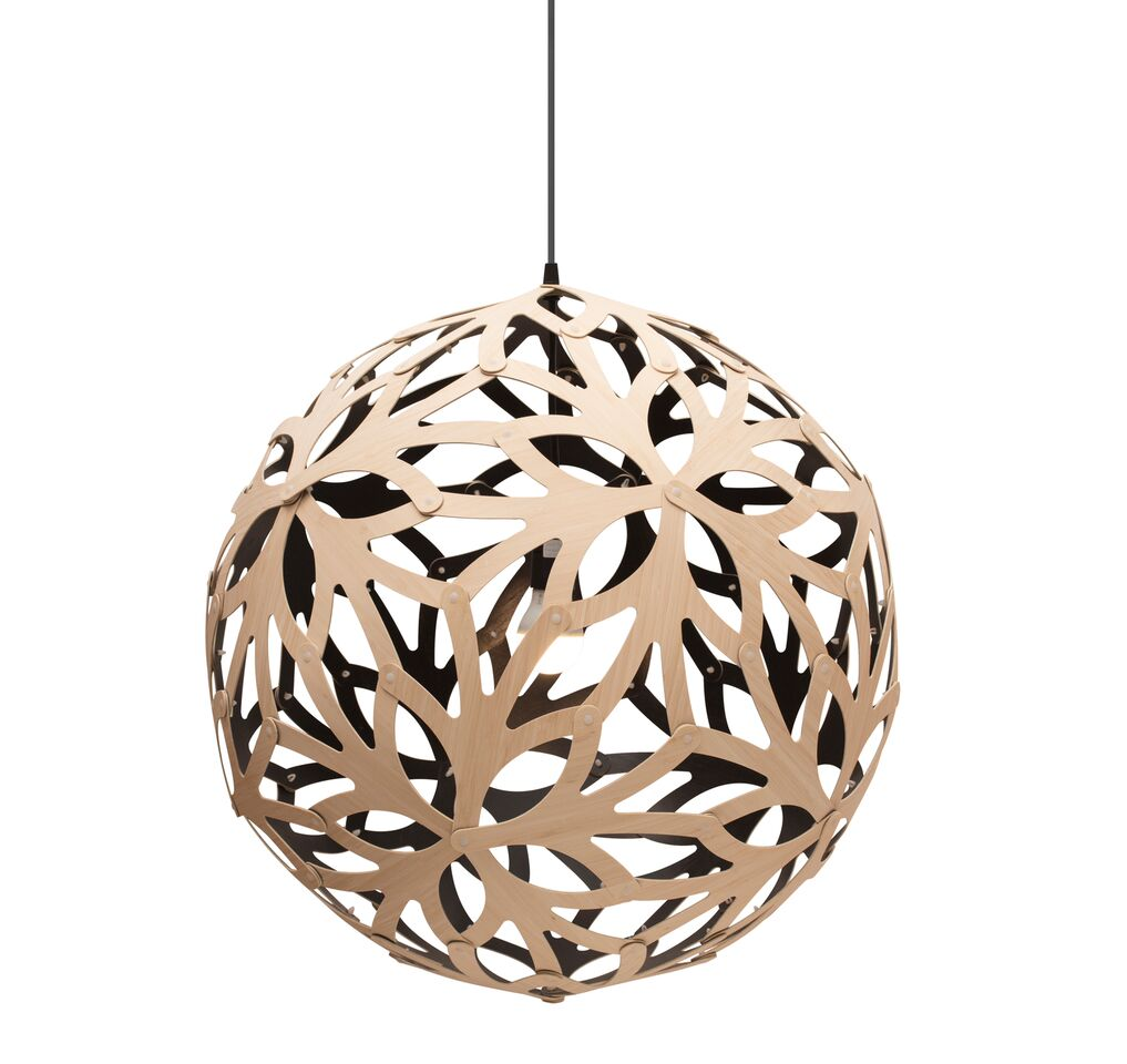 Floral Pendant Light Black 1 Inside, 60cm